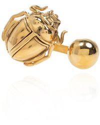 Saint Laurent Ring With Logo Gold - Metallic