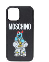 Moschino Iphone 12/12 Pro Case With Logo Unisex Black