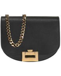 Victoria Beckham 'half Moon' Shoulder Bag Black