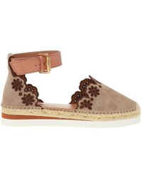 See By Chloé Openwork Espadrilles Beige - Natural