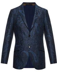 Etro Embroidered Blazer - Blue
