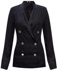Balmain Silk Pyjama Top - Black