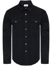 Givenchy Branded Denim Shirt - Black