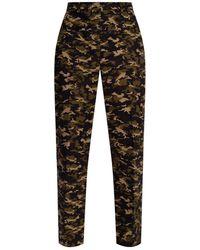 Michael Kors Samantha Camouflage Stretch Cotton Pants - Multicolour