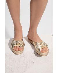 Kate Spade 'saltie Shore' Leather Slide Sandals Silver - Metallic