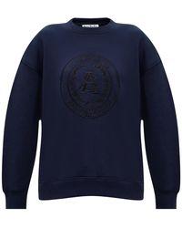 Acne Studios Sweatshirt With Logo Navy Blue