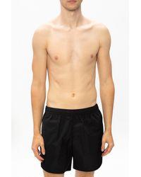 Balenciaga Logo Swim Shorts - Black