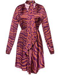 Just Cavalli - Dress With Tie Fastening - Lyst