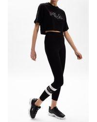 Fila Leggings With Logo Black