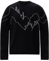 AllSaints 'mount' Wool Sweater - Black