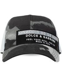 Dolce & Gabbana Patterned Baseball Cap Unisex Gray