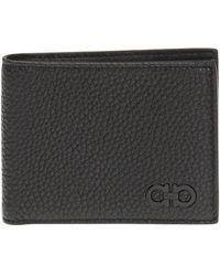 Ferragamo Gancini Bifold Wallet - Black