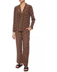 Diane von Furstenberg Veronica Paisley-print Silk Crepe De Chine Wide-leg Pants - Black