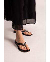 Givenchy Leather Flip-flops - Black