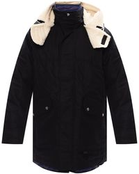 DIESEL 'w-steve' Two-layered Coat Black