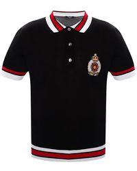 Balmain Cotton Polo Shirt With Logo Black