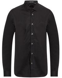 Philipp Plein Shirt With Decorative Buttons - Black