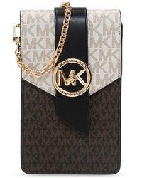MICHAEL Michael Kors 'mk Charm' Phone Holder - Brown