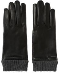DIESEL - Leather Gloves - Lyst