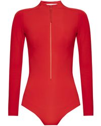 Y-3 Swimsuit With Long Sleeves - Red