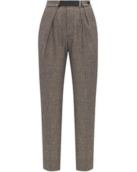 Zadig & Voltaire Pleat-front Trousers Grey - Black