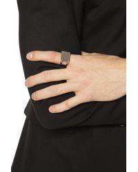 Maison Margiela Silver Ring With Logo Silver - Metallic