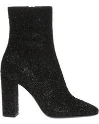 Saint Laurent - 'lou' Heeled Ankle Boots - Lyst