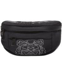 KENZO Embroidered Belt Bag - Gray