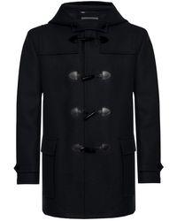 Saint Laurent - Hooded Wool Coat - Lyst