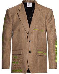 Vetements Patterned Blazer - Brown