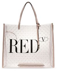 RED Valentino 'pointote' Shopper Bag Pink