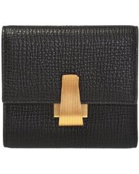 Bottega Veneta Wallet With Decorative Clasp - Black