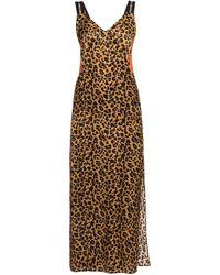 Marcelo Burlon Patterned Slip Dress - Brown