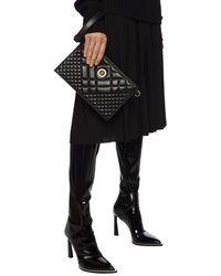 Versace Medusa Head Quilted Shoulder Bag Black