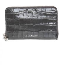 Alexander McQueen Branded Wallet - Gray