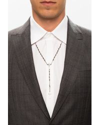 DSquared² Brass Necklace Silver - Metallic