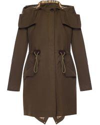 Burberry Coat With Detachable Hood - Green
