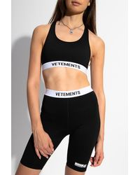 Vetements Cropped Training Top - Black