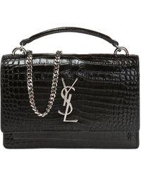 Saint Laurent 'sunset Monogram' Handbag - Black