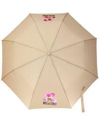 Moschino Printed Umbrella Beige - Natural