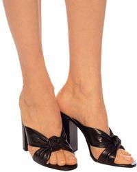 Saint Laurent Loulou 100 Leather Sandals - Black