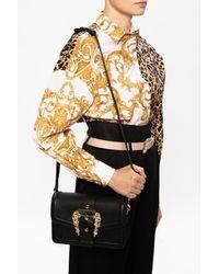 Versace Jeans Shoulder Bag With Logo - Black