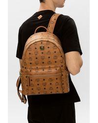 MCM Logo Backpack Brown