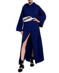 DSquared² Oversize Poncho Navy Blue