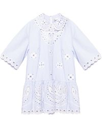 RED Valentino Patterned Top Blue