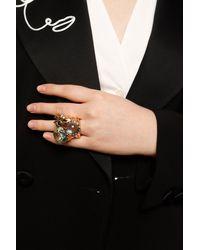 Tory Burch Kira Crystal Statement Ring - Metallic