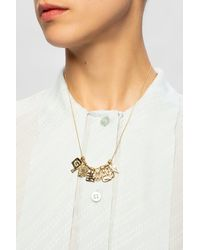 Givenchy Logo Necklace - Metallic