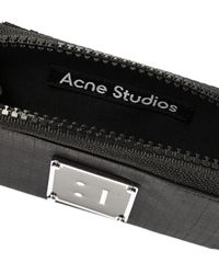 Acne Studios Wallet With Logo Black