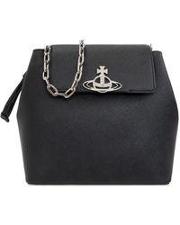 Vivienne Westwood 'debbie Bucket' Shoulder Bag - Black