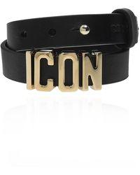 DSquared² Leather Bracelet - Black